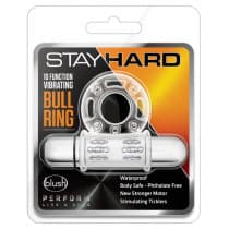 Stay Hard 10 Function Vibrating Bull Ring Clear