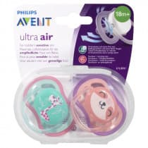 Avent Soother Ultra Air BPA Free 18m+ 2 Pack