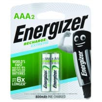 Energizer Rechargeable AAA 2 Pack