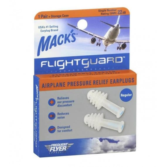 Macks Flightguard Airplane Pressure Relief Ear Plugs 1 Pair