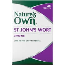 Natures Own St Johns Wort 2700mg 40 Tablets