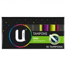 U By Kotex Mini Tampons 16 Pack
