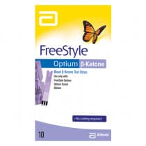Abbott Freestyle Optium Blood ß-Ketone Test Strips 10 Strips