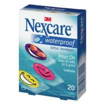 Nexcare Waterproof Tattoo Cool Strips 20 Pack