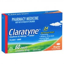 Claratyne Rapid 60 Tablets