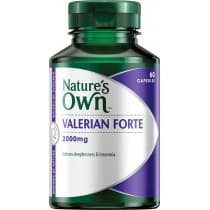 Natures Own Valerian Forte 2000mg 60 Capsules