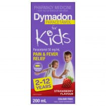 Dymadon for Kids 2 - 12 Years Colour Free Strawberry 200ml
