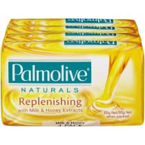 Palmolive Naturals Replenishing Care Milk & Honey Extracts Soap 4 Pack