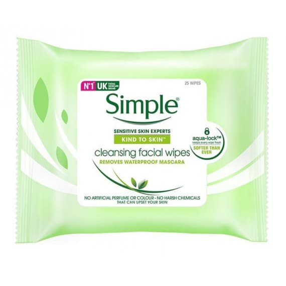 Simple Kind to Skin Cleansing Facial Wipes 25 Wipes