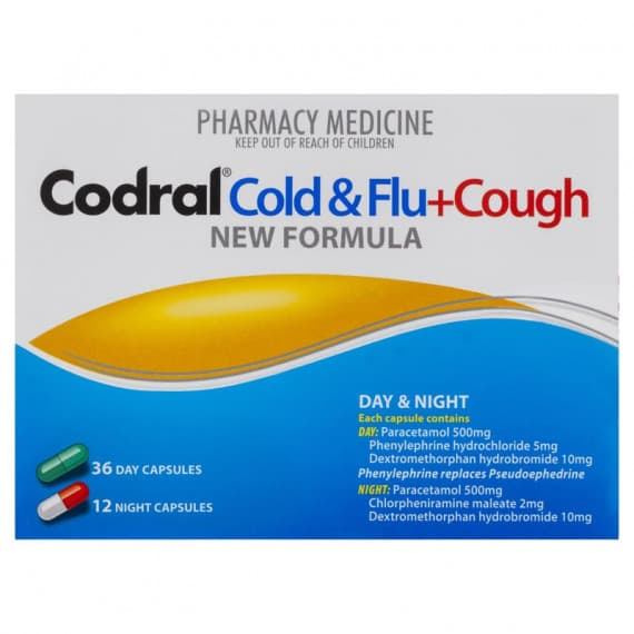 Codral PE Cold & Flu + Cough Day & Night 48 Capsules