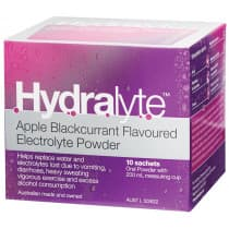 Hydralyte Powder Apple Blackcurrant 10 x 4.9g Sachets