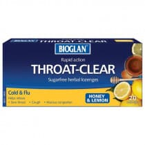 Bioglan Throat Clear Honey & Lemon Lozenges 20 Lozenges