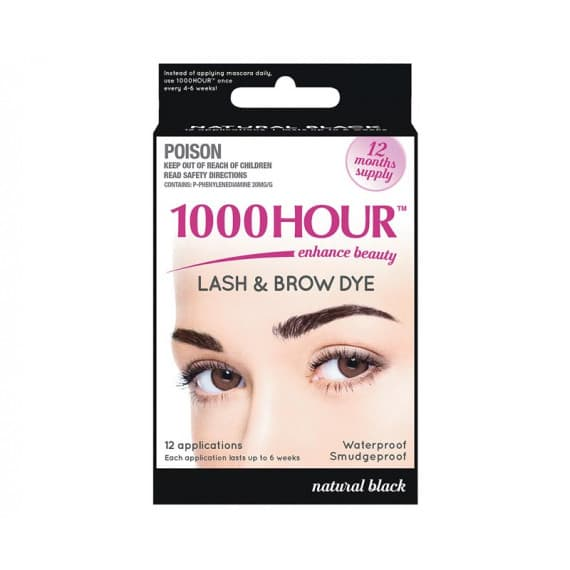 1000 Hour Lash & Brow Dye Kit Black 12 Months Supply