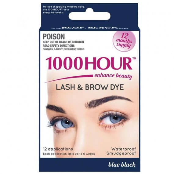 1000 Hour Lash & Brow Dye Kit Blue Black 12 Months Supply