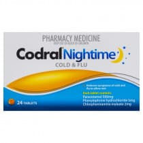 Codral PE Nightime Cold & Flu 24 Tablets