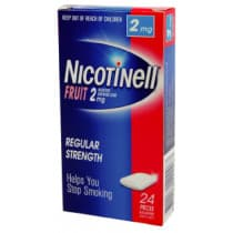 Nicotinell Gum Fruit 2mg 24 Pieces