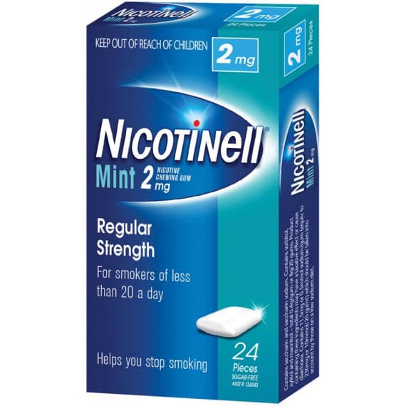 Nicotinell Gum Mint 2mg 24 Pieces