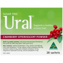 Ural Effervescent Powder Cranberry 4g 28 Packs