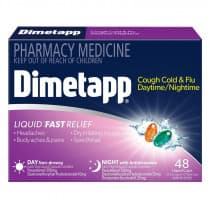 Dimetapp Day & Night Cough Cold & Flu 48 Liquid Capsules