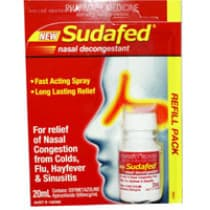 Sudafed Nasal Spray Refill 20ml