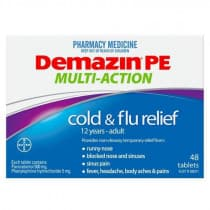 Demazin PE Multi-Action Cold & Flu Relief 48 Tablets