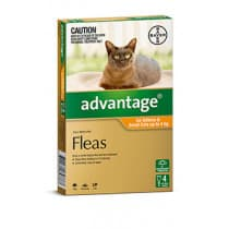 Advantage Cat 0-4kg Small Orange 4 Pack