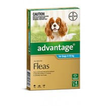 Advantage Medium Dog 4-10 kg Pack 4