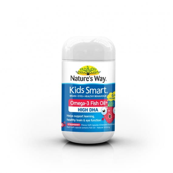 Natures Way Kids Smart Omega 3 Fish Oil Strawberry 50 Capsules