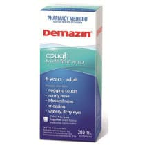 Demazin PE Cough & Cold Relief Syrup 6 Years to Adult 200ml