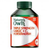 Natures Own Triple Strength Garlic Plus C Horseradish 150 Tablets
