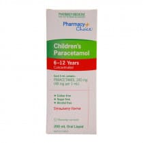 Pharmacy Choice Childrens Paracetamol Oral Liquid 6-12 Years 200ml