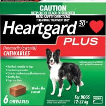 Heartgard Plus For Dogs 12-22kg Chewables 6 Pack