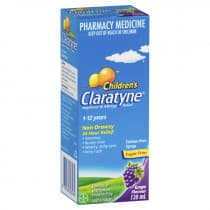 Claratyne Childrens Syrup 1 To 12 Years Grape 120ml