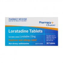 Pharmacy Choice Loratadine Tabs 30