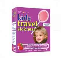 Key Sun Kids Travel Sickness Strawberry Flavoured 10 Lozenges