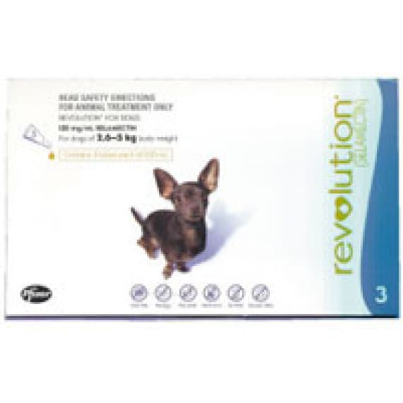 Revolution Small Dog 2.6kg To 5kg Pack 3