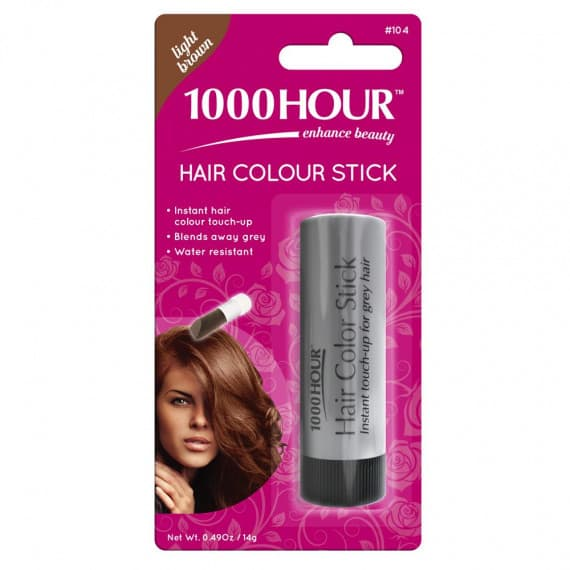 1000 Hour Hair Colour Stick Light Brown 14g