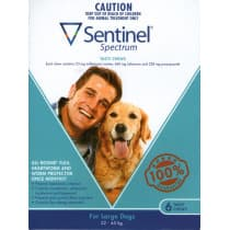 Sentinel Spectrum Blue For Large Dogs Chews 6 Pack