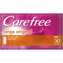 Carefree Original Long Unscented Liners 30 Pack