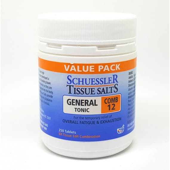 Martin & Pleasance Schuessler Comb 12 General Tonic 250 Tablets