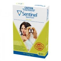 Sentinel Spectrum Green For Small Dogs Chews 3 Pack