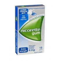 Nicorette Nicotine Gum Icy Mint 4mg 15 Pieces