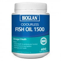 Bioglan Odourless Fish Oil 1500mg 400 Capsules