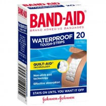 Band-Aid Tough Strips Waterproof Regular 20 Pack