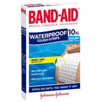 Band-Aid Tough Strips Waterproof Extra Large 10 Pack