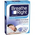 Breathe Right Nasal Strips Small/Med 30 Clear Strips