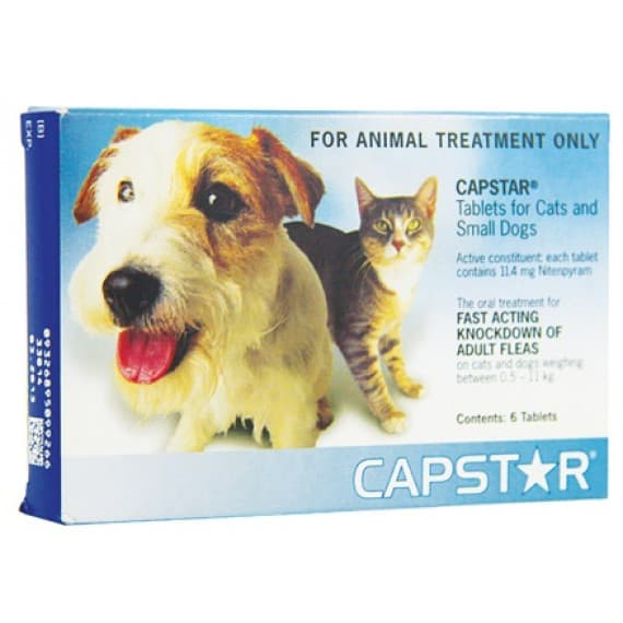 Capstar Flea Treatment For Cats & Dogs 0.5 To 11Kg 6 Tablets