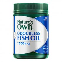 Natures Own Odourless Fish Oil 1000mg 200 Capsules