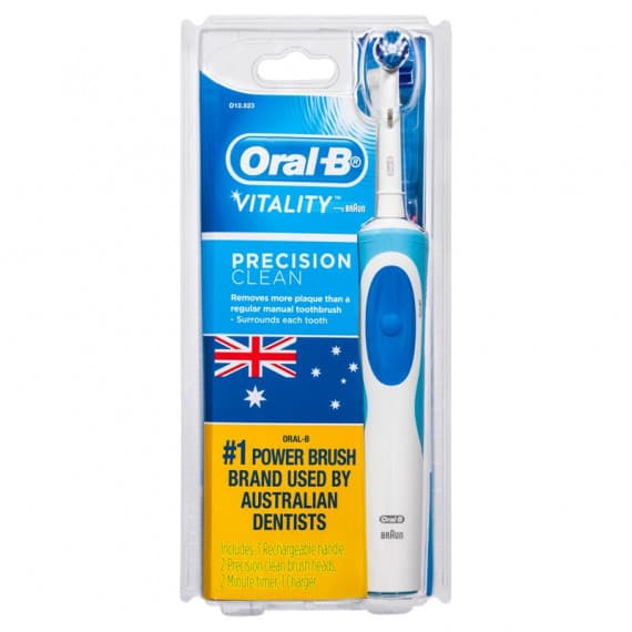 Oral-B Vitality Precision Clean Rechargeable Toothbrush + 2 Refills
