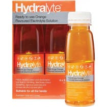 Hydralyte Electrolyte Solution Orange 4 x 250ml